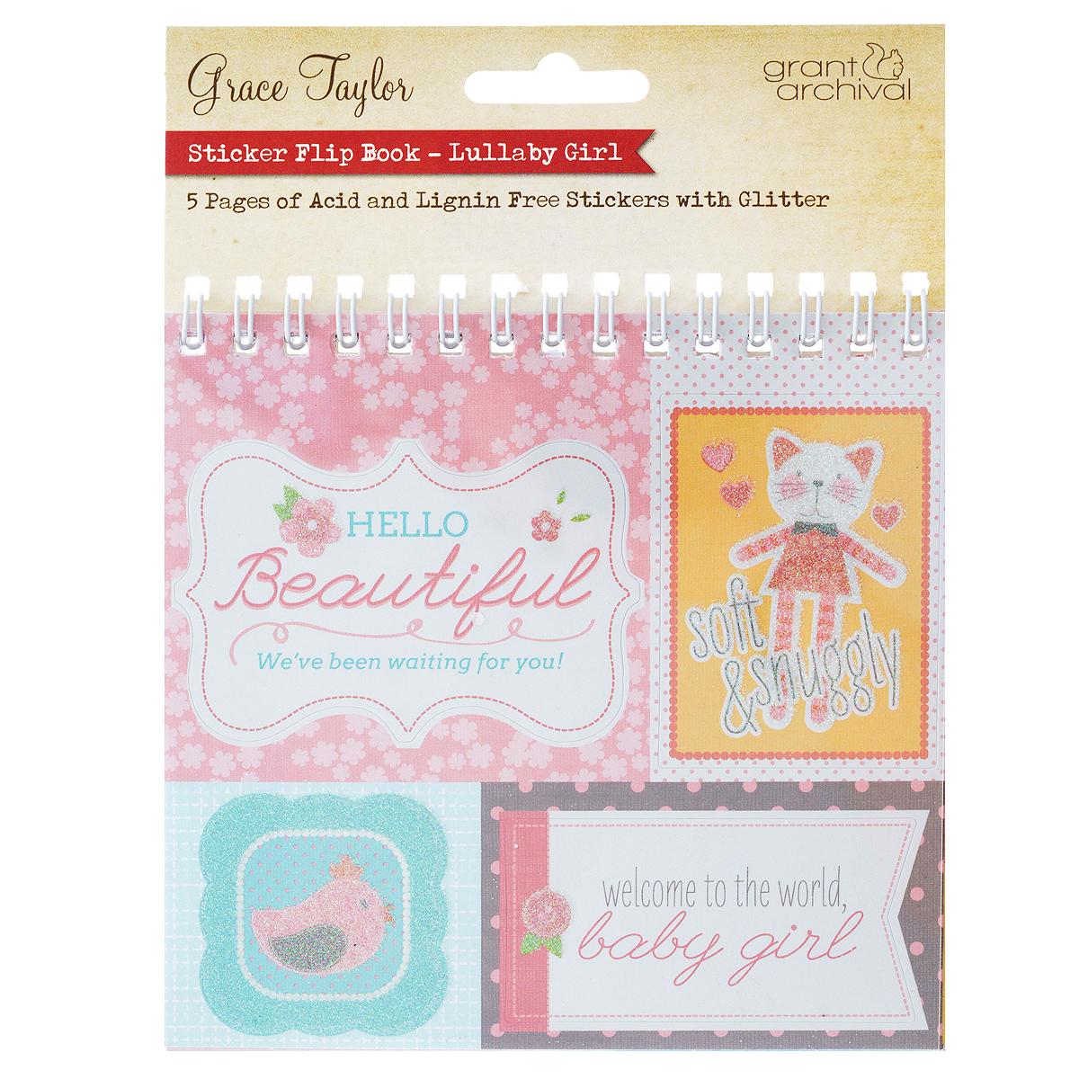 Набор стикеров Grant Archival Baby Girl, с глиттером, 27 штGS2652Стикеры Grant Archival Baby Girl выполнены из высококачественной бумаги и оформлены глиттером. Такой набор прекрасно подойдет для оформления творческих работ в технике скрапбукинга. Стикеры можно использовать для украшения фотоальбомов, скрап-страничек, подарков, конвертов, фоторамок, открыток и многого другого. В наборе - 27 стикеров разного размера и дизайна. На задней стороне - клейкая поверхность. Скрапбукинг - это хобби, которое способно приносить массу приятных эмоций не только человеку, который этим занимается, но и его близким, друзьям, родным. Это невероятно увлекательное занятие, которое поможет вам сохранить наиболее памятные и яркие моменты вашей жизни, а также интересно оформить интерьер дома. Размер листа: 13 см х 12,5 см. Средний размер стикера: 4,8 см х 2,5 см. Количество стикеров: 27 шт.