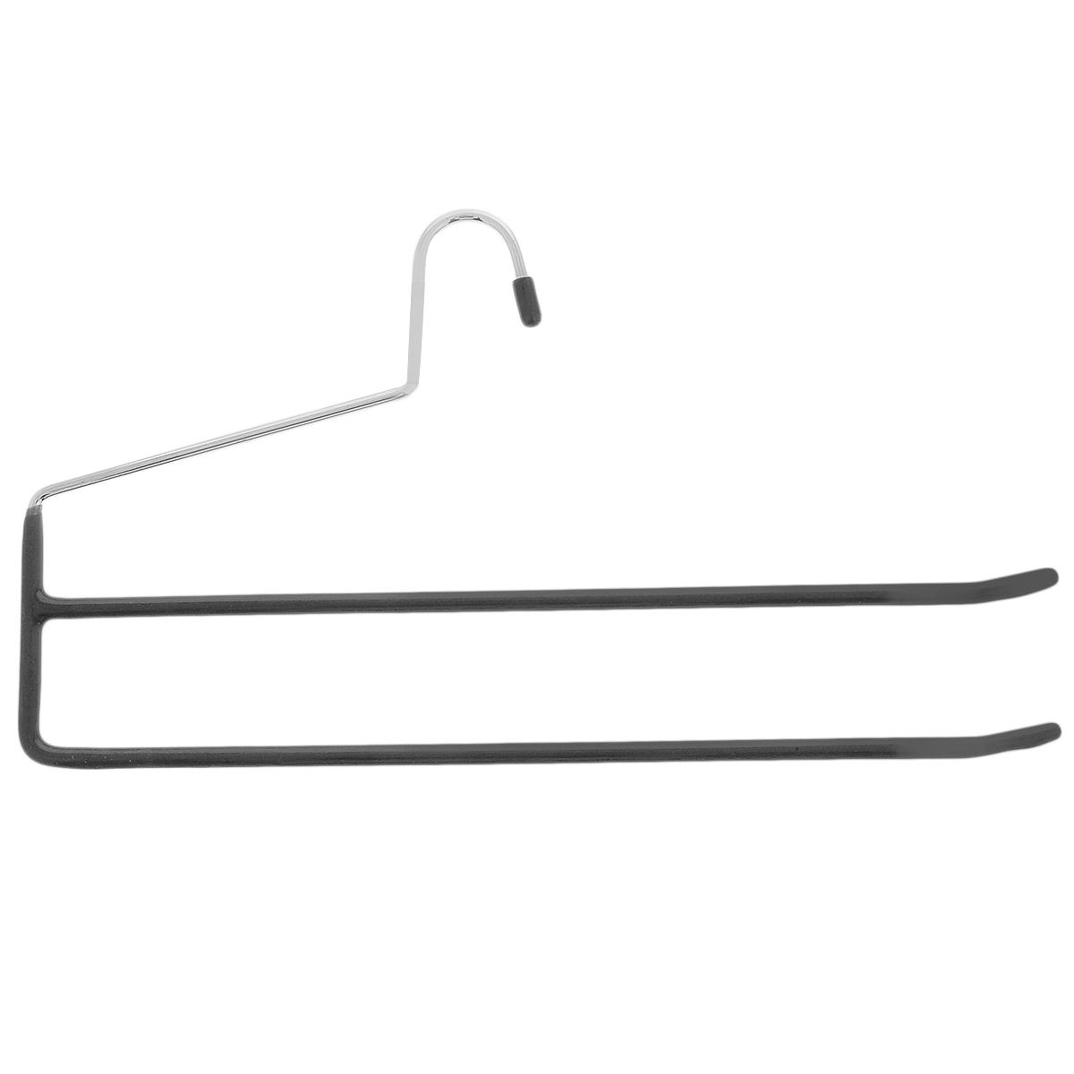 Вешалка для одежды Flatel, цвет: черный, 35 смFHM151Вешалка для одежды Flatel выполнена из прочного металла с противоскользящим покрытием из ПВХ. Изделие оснащено двумя перекладинами. Вешалка - это незаменимая вещь для того, чтобы ваша одежда всегда оставалась в хорошем состоянии.
