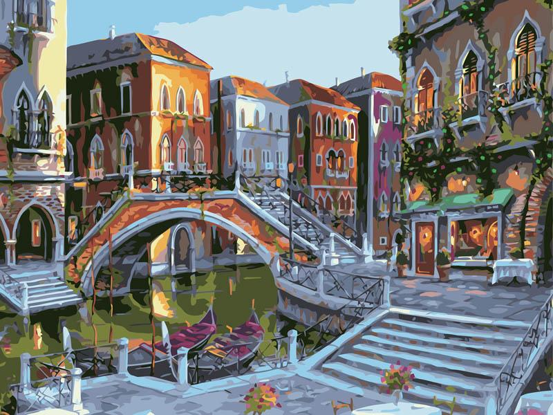 Живопись на цветном холсте Городской пейзаж, 40 см х 50 см625-AB-C Городской пейзажЖивопись на цветном холсте Городской пейзаж, 40 см х 50 см