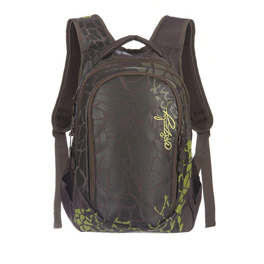 Рюкзак городской Grizzly, цвет: хаки, 22 л. RD-534-1/3RD-534-1/3Рюкзак молодежный женский с двумя отделениями, внутренними карманами, укрепленными лямками и жесткой спинкой, с ручкой для переноски