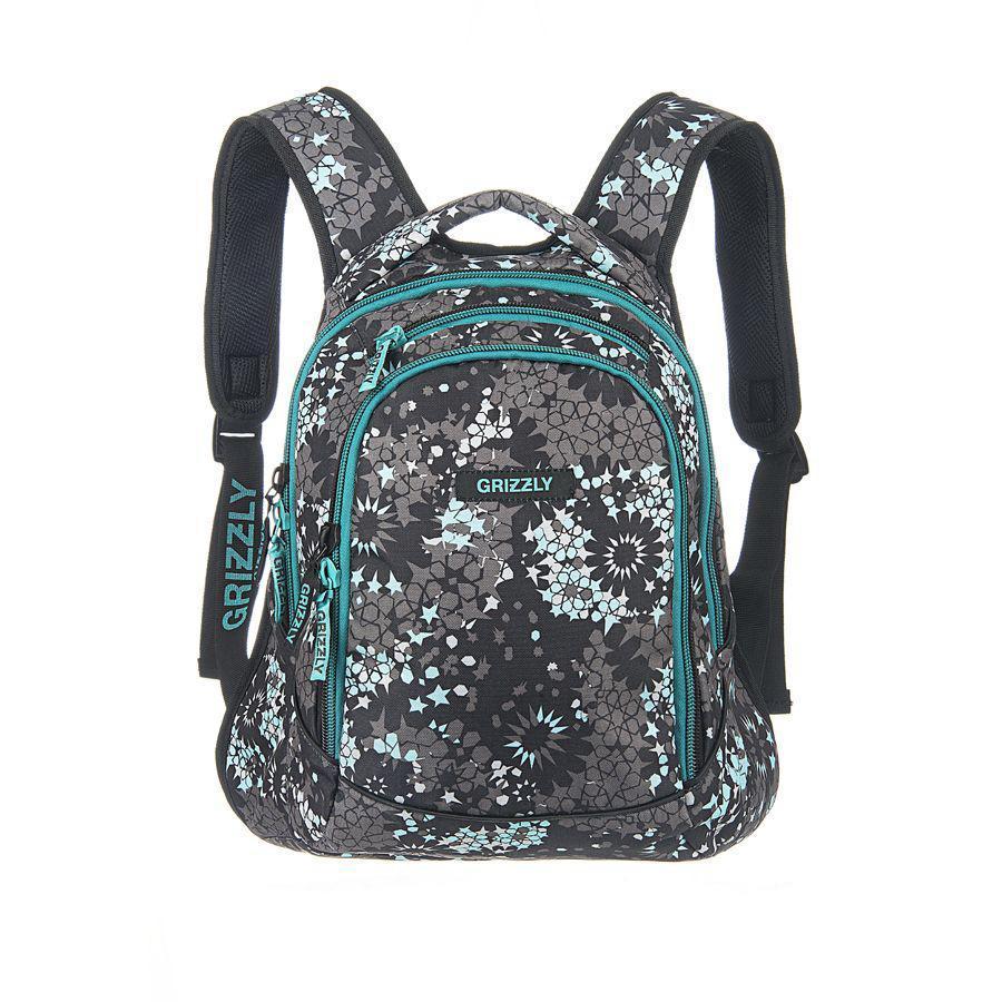 Рюкзак городской Grizzly, цвет: серый, бирюзовый, 22 л. RD-524-1/1RD-524-1/1Молодежный рюкзак с двумя отделениями на молнии, с внутренними карманами,укрепленными лямками,дном и спинкой.Все швы рюкзака отстрочены контрастными прочными нитками.