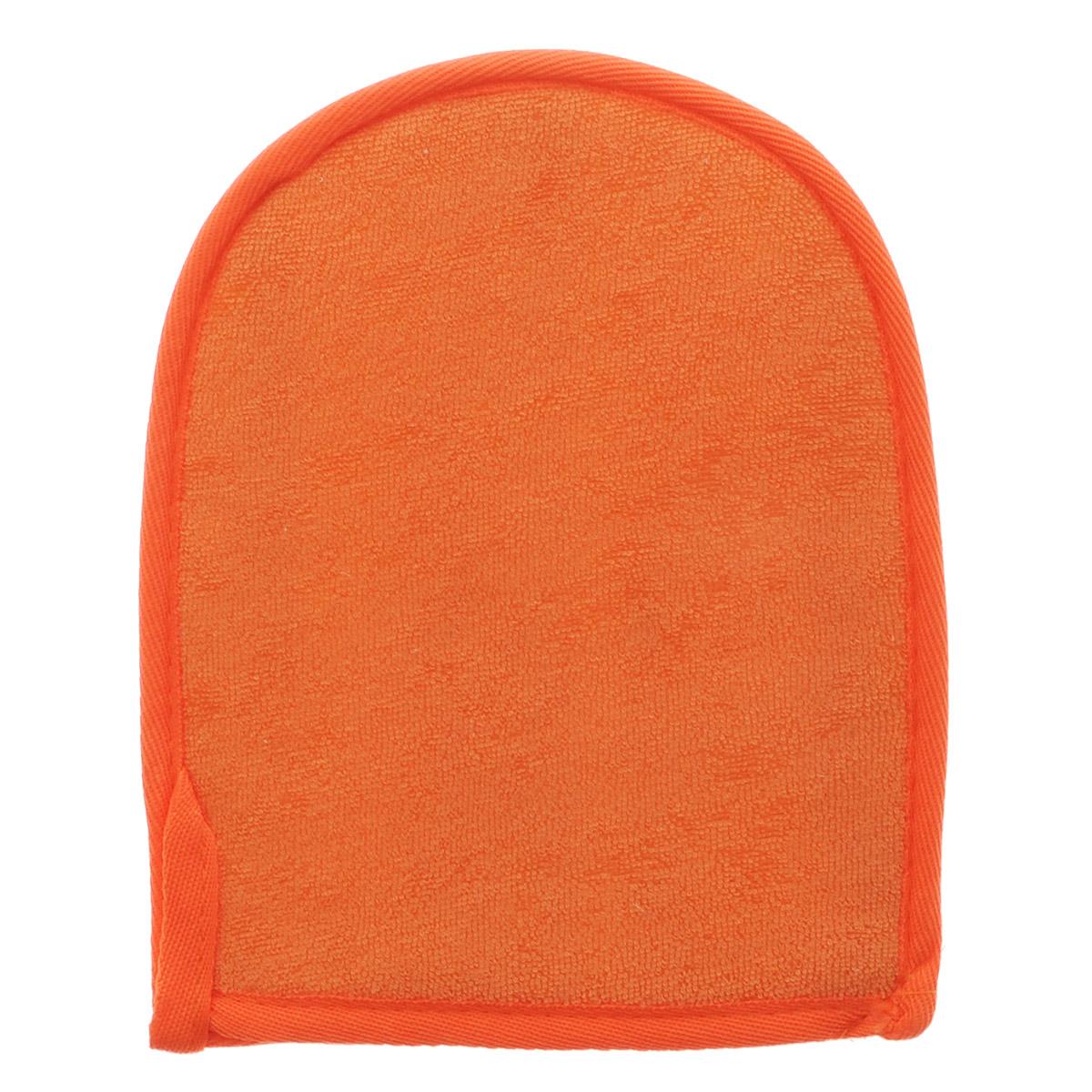 Мочалка-рукавица Home Queen, из люфы, цвет: оранжевый, 20 х 16 см50837Мочалка-рукавица Home Queen, изготовленная из люфы, прекрасно очищает и массирует кожу, улучшает циркуляцию крови и обмен веществ. Обладает эффектом скраба - мягко отшелушивает верхний слой эпидермиса, стимулируя рост новых, молодых клеток, делает кожу здоровой и красивой. Подходит для ежедневного использования.
