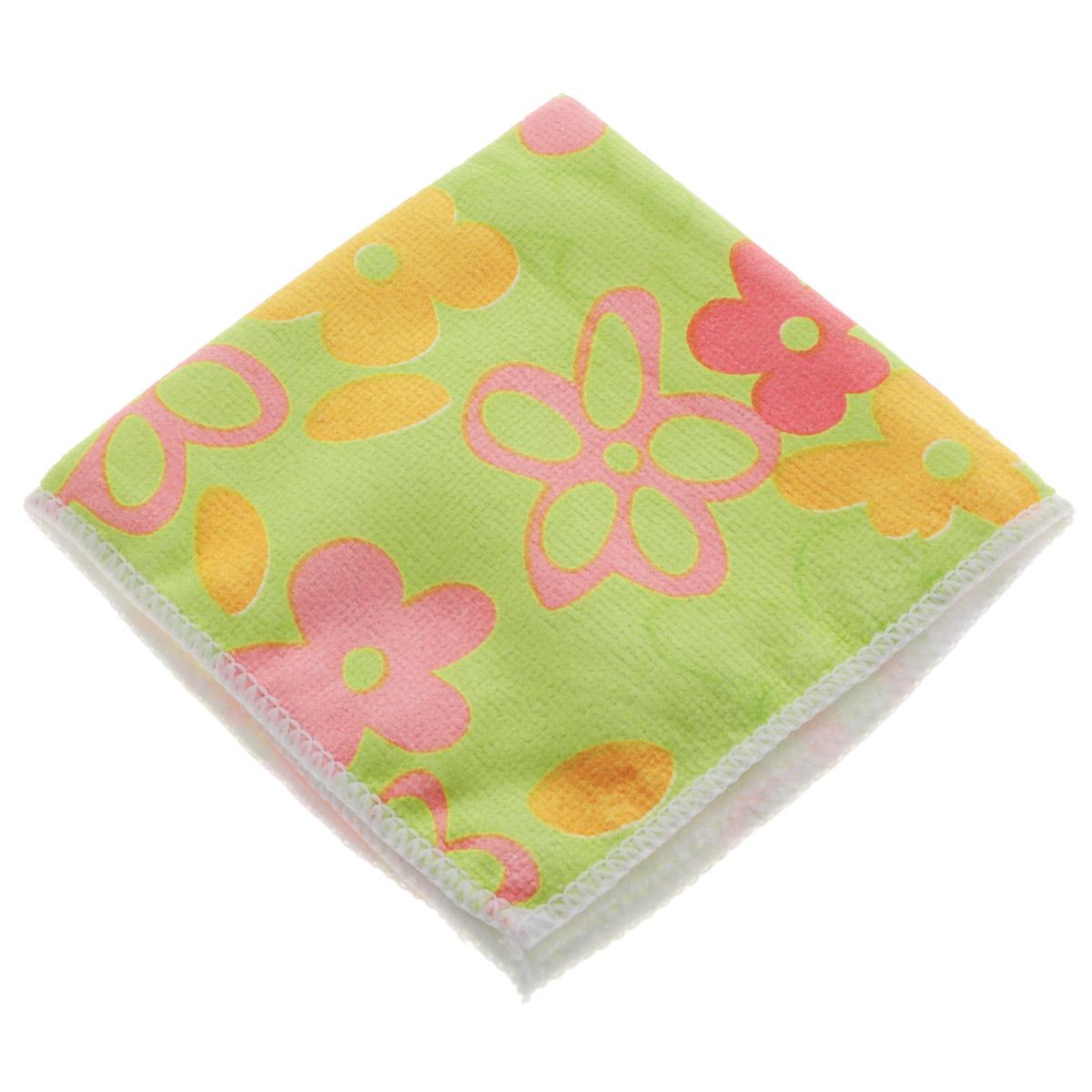 Салфетка для уборки Youll Love Цветы, цвет: салатовый, 30 х 30 см58042Салфетка Youll Love Цветы, изготовленная из 20% полиамида и 80% полиэфира, предназначена для очищения загрязнений на любых поверхностях. Изделие обладает высокой износоустойчивостью и рассчитано на многократное использование, легко моется в теплой воде с мягкими чистящими средствами. Супервпитывающая салфетка не оставляет разводов и ворсинок, удаляет большинство жирных и маслянистых загрязнений без использования химических средств.