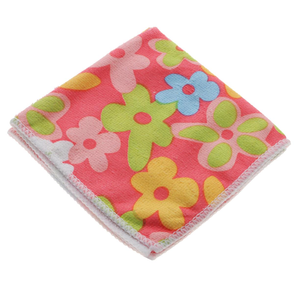 Салфетка для уборки Youll Love Цветы, цвет: розовый, 30 см х 30 см58042Салфетка Youll Love Цветы, изготовленная из 20% полиамида и 80% полиэфира, предназначена для очищения загрязнений на любых поверхностях. Изделие обладает высокой износоустойчивостью и рассчитано на многократное использование, легко моется в теплой воде с мягкими чистящими средствами. Супервпитывающая салфетка не оставляет разводов и ворсинок, удаляет большинство жирных и маслянистых загрязнений без использования химических средств. Размер: 30 см х 30 см.