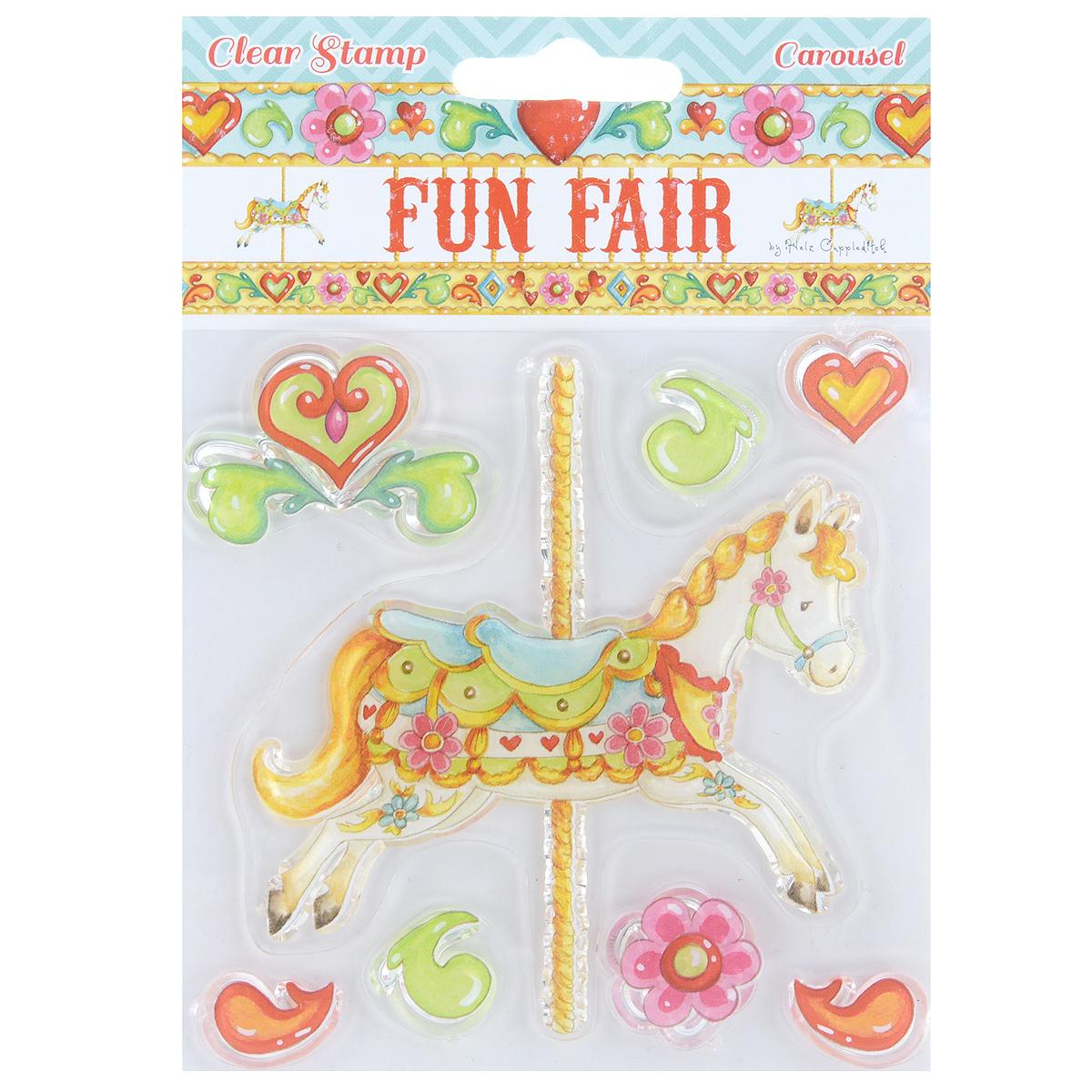 Штамп прозрачный Fun Fair Carousel, 8 штHCCS022Штампы Fun Fair Carousel выполнены из силикона и применяются для оформления творческих работ в технике скрапбукинг. Их можно использовать для украшения тетрадей, альбомов, дневников, самодельных открыток и многого другого. Для работы со штампом необходим акриловый блок и чернильная подушечка. В наборе - 8 штампов. Скрапбукинг - это хобби, которое способно приносить массу приятных эмоций не только человеку, который занимается скрапбукингом, но и его близким, друзьям, родным. Это невероятно увлекательное занятие, которое поможет вам сохранить наиболее памятные и яркие моменты вашей жизни для вас и даже ваших потомков. Средний размер штампа: 4 см х 3 см. Комплектация: 8 шт. Материал: силикон.