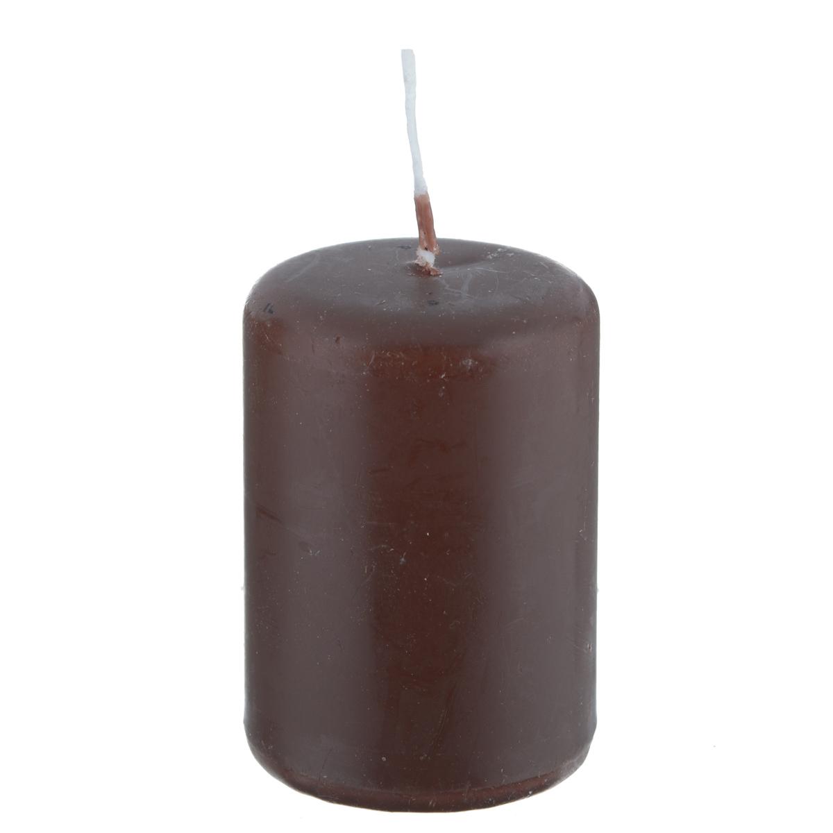 Свеча Creativ, цвет: коричневый, высота 5,5 см596006-1Свеча Creativ выполнена из парафинового воска в виде столбика. Вы можете поставить свечу в любом месте, где она будет удачно смотреться и радовать глаз. Кроме того, эта свеча - отличный вариант подарка для ваших близких и друзей.