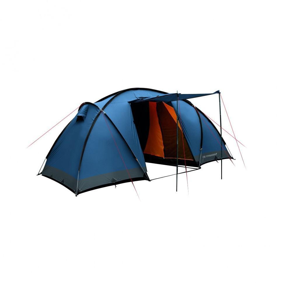 Палатка четырехместная Trimm COMFORT II 4, цвет: синийR36953Палатка Trimm COMFORT II – вместительная туристическая палатка серии Family с внешним тентом синего цвета. Прекрасный выбор для большой компании, любящей активный отдых на природе и обожающей длительные походы, рыбную ловлю в любое время, кроме зимы. Палатка COMFORT II от чешского производителя Trimm относится к серии Family. Изделия этой серии удовлетворят самым высоким требованиям к комфорту и безопасности во время пребывания на природе, даже если отдых планируется длительным. Отличительная черта данной модели – две «спальни», уникальная система крепления каркаса из 4 дуг и наличие большого тамбура, а также возможность создания навеса с помощью подпорки входного элемента палатки. В каждой спальне могут с комфортом разместиться по 2 человека, если же немного потесниться, то можно найти место и для третьего. Таким образом, общее число мест в палатке составляет 4, но можно увеличить это количество и до 6.