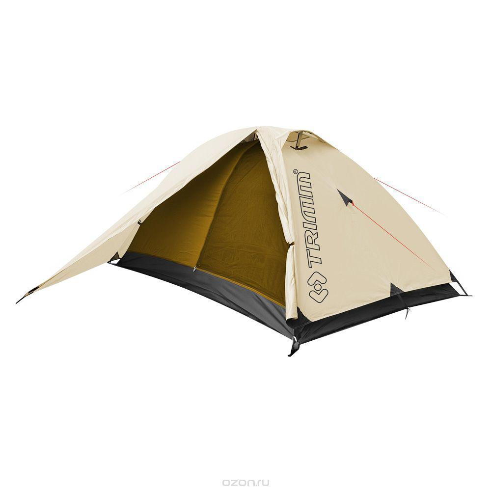 Палатка двухместная Trimm COMPACT 2, цвет: песочныйR36945Trimm COMPACT – небольшая туристическая палатки серии Trekking с внешним тентом песочного цвета. Данная модель будет интересна, прежде всего, людям, ведущим активный образ жизни. Палатка Trimm COMPACT относится к серии Trekking, отличительной чертой которой является использование патентованной конструкции Durawrap, обеспечивающей достаточную жесткость каркаса. Данная модель рассчитана на 2-3 человека.