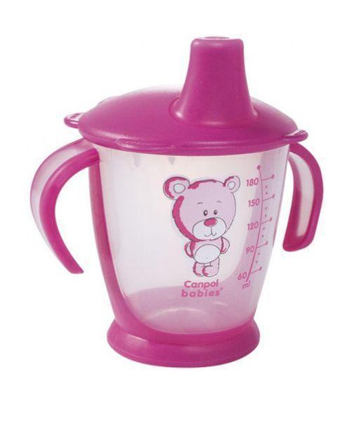 Canpol Babies Поильник Медвежонок непроливающий цвет розовый 180 мл