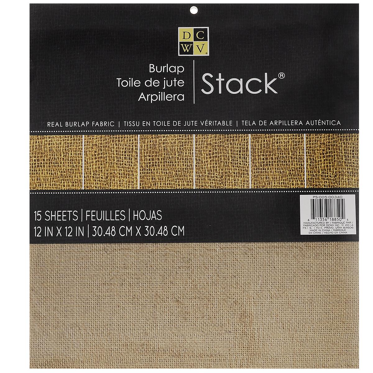 Набор из джутовой бумаги Burlap Stack, 15 листовPS-005-00340Набор из джутовой бумаги Burlap Stack позволит создавать всевозможные аппликации и поделки, эксклюзивно упаковать подарки, оформить витрины, букеты и цветочные композиции, подойдет, как элемент в скрапбукинге. Набор состоит из однотонной бумаги, цвета мешковины. Джут - волокно, добываемое из растения джут, а также грубая ткань из этого волокна. Создание поделок из джутовой бумаги поможет ребенку развить творческие способности, кроме того, это увлекательный досуг для детей и взрослых. Скрапбукинг - это хобби, которое способно приносить массу приятных эмоций не только человеку, который занимается скрапбукингом, но и его близким, друзьям, родным. Это невероятно увлекательное занятие, которое поможет вам сохранить наиболее памятные и яркие моменты вашей жизни для вас и даже ваших потомков. В набор входит 15 листов. Размер листа: 30,4 см х 30,4 см.