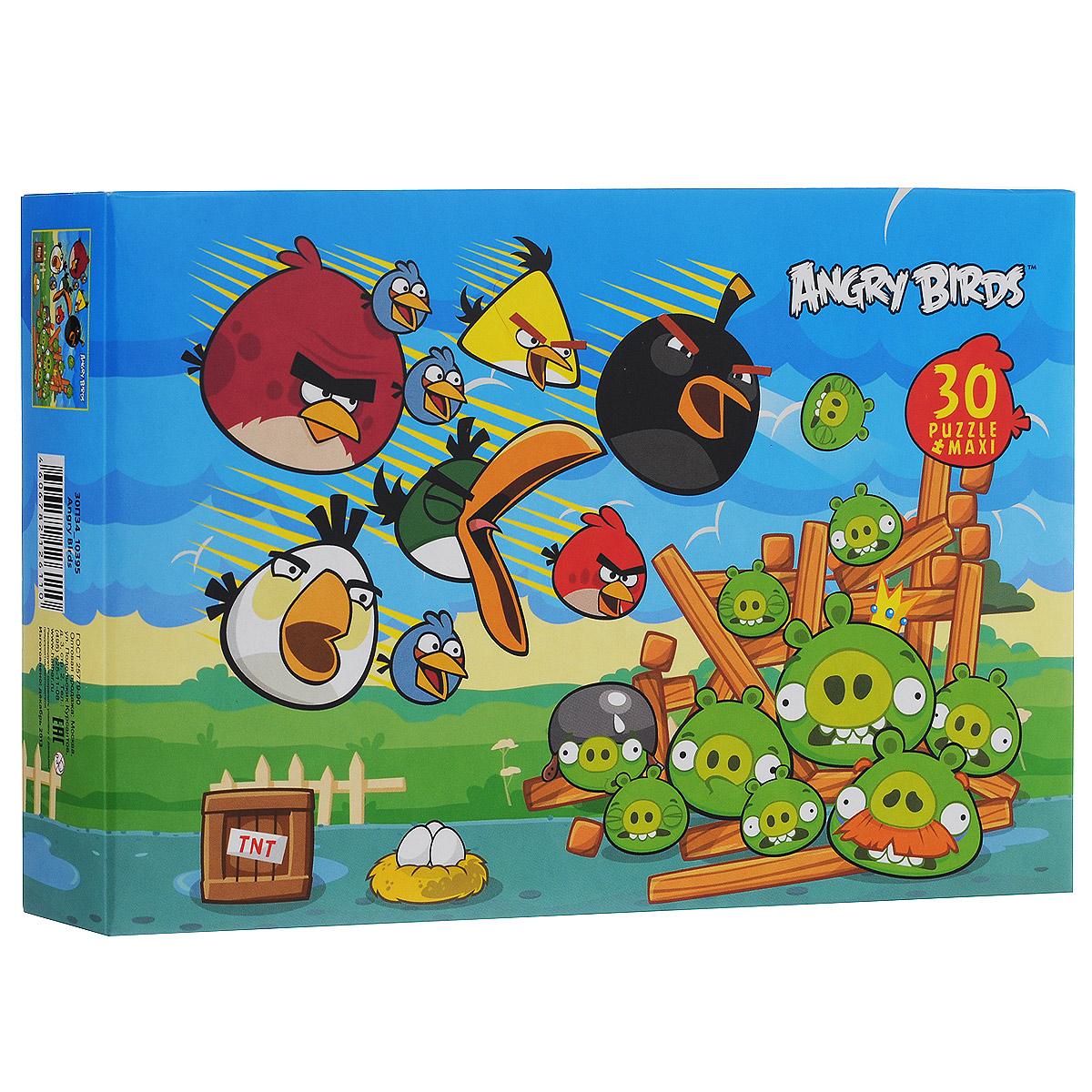 Angry Birds. Maxi-пазл, 30 элементов30ПЗ4_10395Maxi-пазл Angry Birds, без сомнения, придется по душе вашему ребенку. Крупные элементы удобны в использовании и легко складываются в картинку, помогая малышу быстро находить детали целого. Собрав этот пазл, включающий 30 элементов, ребенок получит картинку с изображением персонажей популярной видео-игры Angry Birds. Пазлы - замечательная игра для всей семьи. Сегодня собирание пазлов стало особенно популярным, главным образом, благодаря своей многообразной тематике, способной удовлетворить самый взыскательный вкус. Собирание пазла развивает у детей мелкую моторику рук, тренирует наблюдательность, логическое и образное мышление, знакомит с окружающим миром, с цветом и разнообразными формами, учит усидчивости и терпению, аккуратности и вниманию.