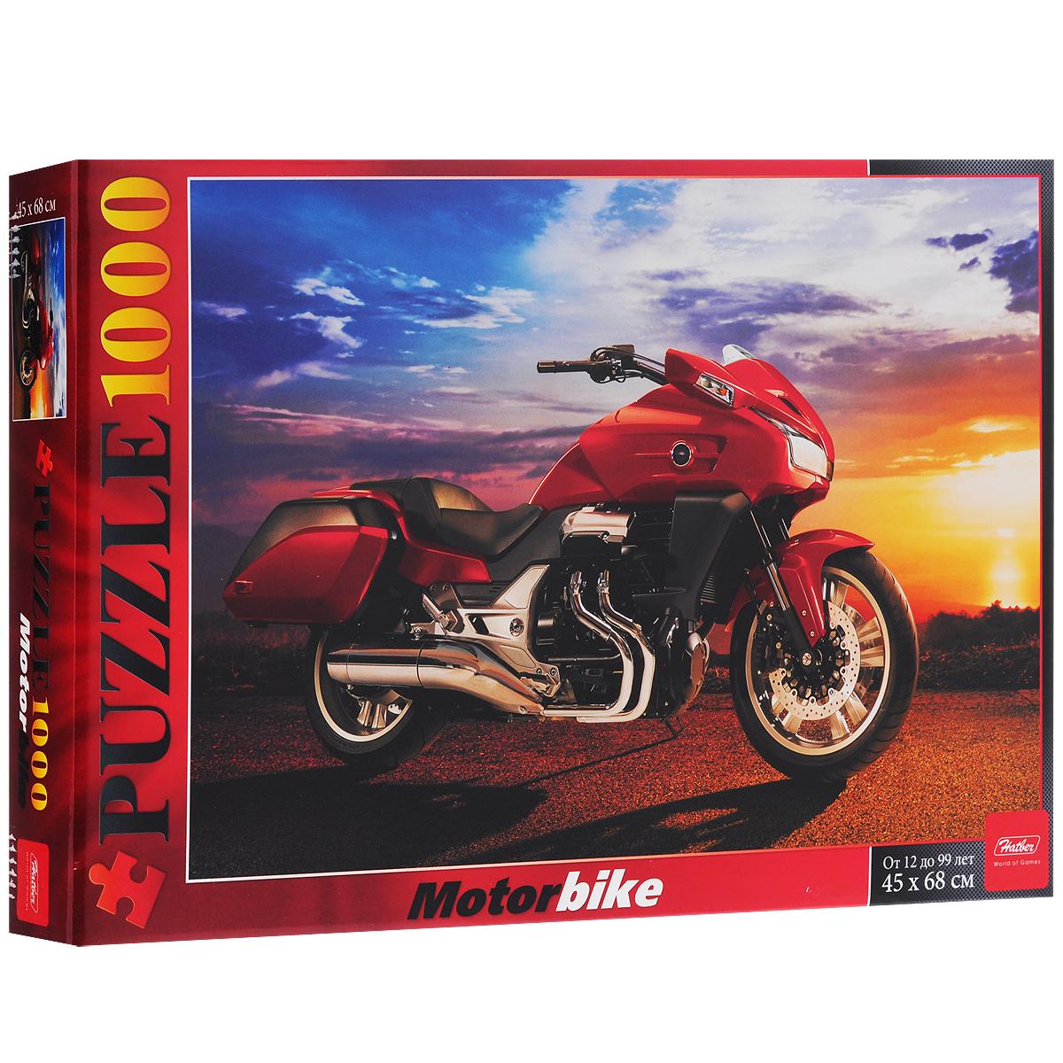 Мотоцикл на закате. Пазл, 1000 элементов