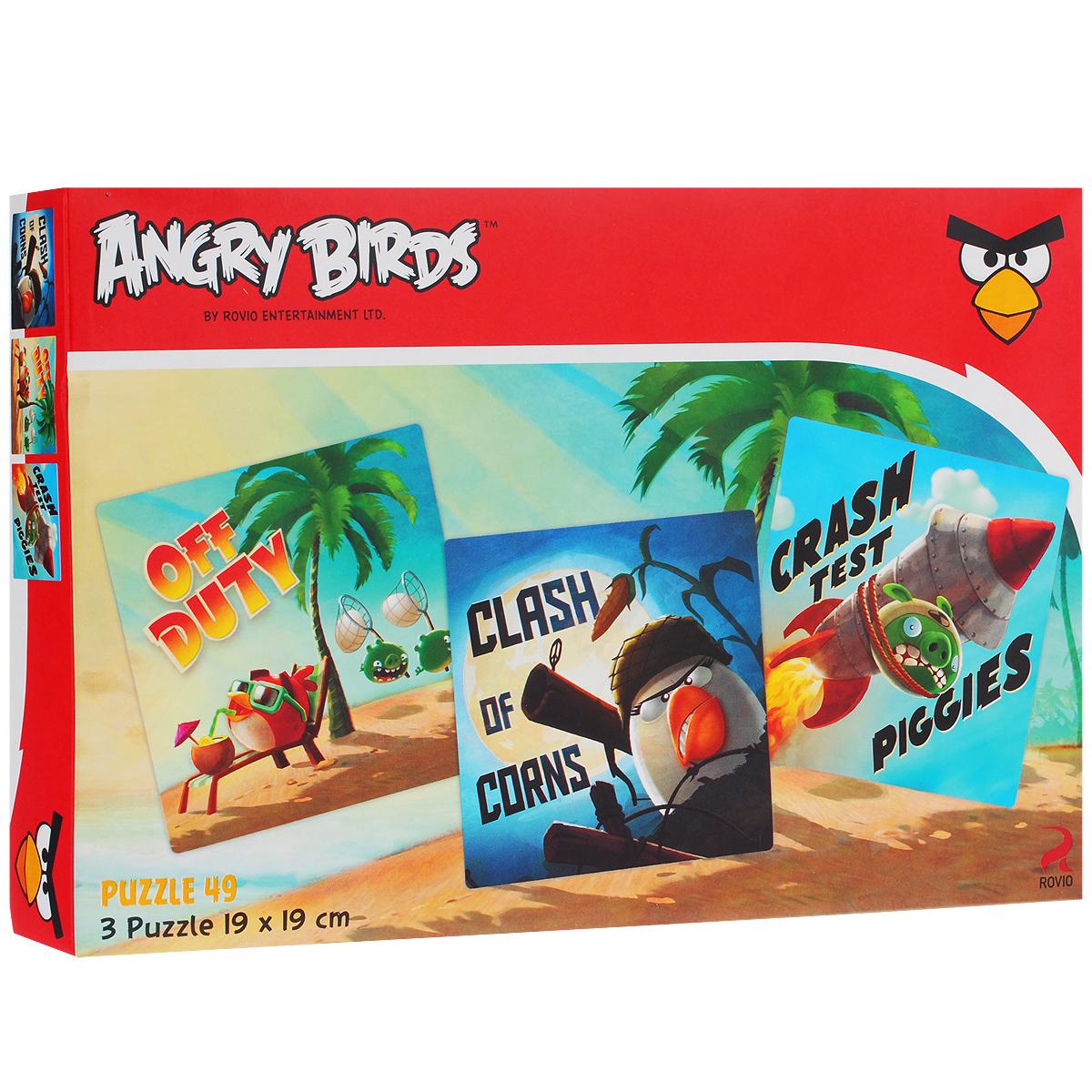 Angry Birds. Пазл, 3х49 элементов49ПЗ5_12721Пазлы Angry Birds привлекут внимание вашего ребенка и поднимут настроение жизнерадостными образами. Комплект включает 147 элементов, с помощью которых ребенок сможет собрать три ярких картинки с изображениями персонажей популярной видео-игры Angry Birds. Пазлы - замечательная игра для всей семьи. Сегодня собирание пазлов стало особенно популярным, главным образом, благодаря своей многообразной тематике, способной удовлетворить самый взыскательный вкус. Собирание пазла развивает у детей мелкую моторику рук, тренирует наблюдательность, логическое и образное мышление, знакомит с окружающим миром, с цветом и разнообразными формами, учит усидчивости и терпению, аккуратности и вниманию. Получившиеся яркие картинки станут отличными украшениями детской комнаты.