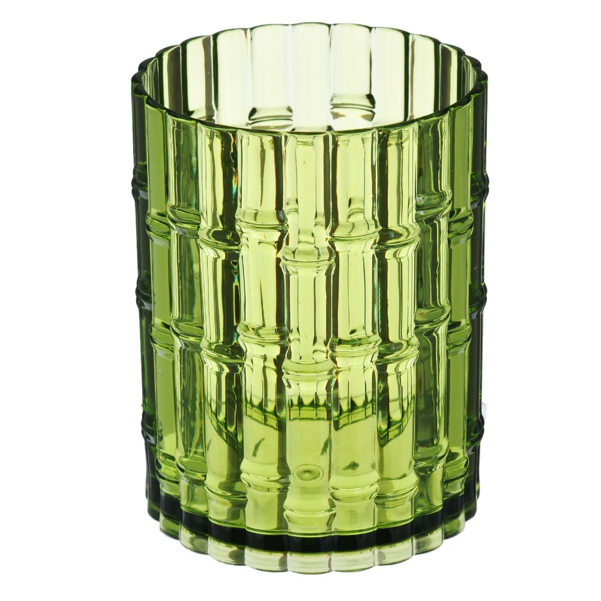 Стакан для ванной Fresh Code Бамбук, цвет: салатовый, 500 мл64541Удобный стакан Fresh Code Бамбук предназначен для хранения различных предметов для гигиенических процедур. Выполнен из акрила с фактурой в виде бамбуковых стеблей. Такой стакан создаст особую атмосферу уюта и максимального комфорта в ванной.
