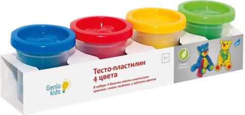 Набор для детского творчества Genio Kids Тесто-пластилин, 4 цветаTA1008Набор для детского творчества Genio Kids Тесто-пластилин позволит ребенку легко научиться лепке. С его помощью малыш сможет выдумывать и воплощать свои замыслы, создавать различные композиции методом лепки, комбинируя и смешивая цвета. Занятие лепкой помогает формированию творческого мышления, развивает мелкую моторику рук, координацию движений и цветовое восприятие. Крышки от баночек выполнены в виде штампов, оттиски которых показывают детям любимых ими животных - обезьянку, мышку и лягушку. В набор входят четыре баночки по 50 г - синего, желтого, красного, зеленого цветов.