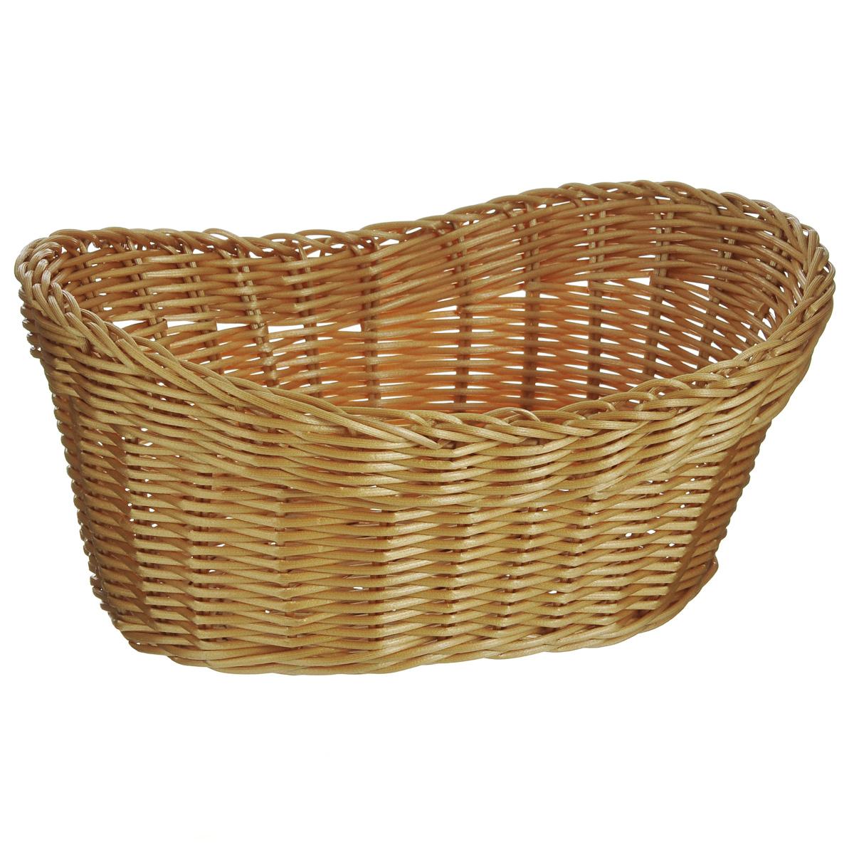 Корзинка для хлеба Kesper, 29,5 см х 22 см х 14 см. 1782-21782-2Оригинальная плетеная корзинка Kesper овальной формы, выполнена из пластика, напоминающего фактуру дерева. Корзинка прекрасно подойдет для вашей кухни. Она предназначена для красивой сервировки хлебобулочной продукции. Изящный дизайн придется по вкусу и ценителям классики, и тем, кто предпочитает утонченность и изысканность. Можно мыть в посудомоечной машине. Размер корзинки: 29,5 см х 22 см х 14 см.