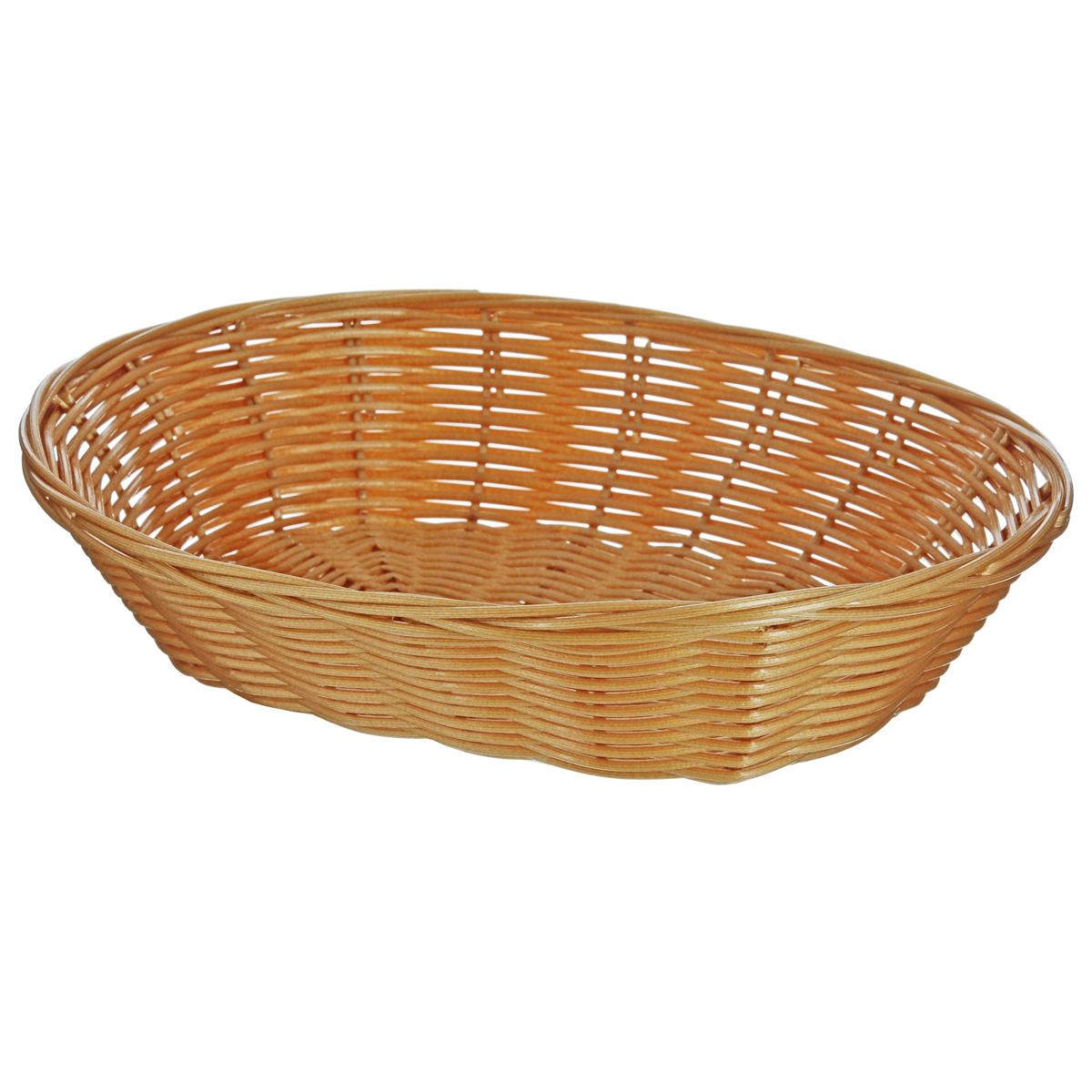 Корзинка для хлеба Kesper, 20,5 см х 17,5 см х 5 см. 1783-21783-2Оригинальная плетеная корзинка Kesper овальной формы, выполнена из пластика, напоминающего фактуру дерева. Корзинка прекрасно подойдет для вашей кухни. Она предназначена для красивой сервировки хлебобулочных изделий. Изящный дизайн придется по вкусу и ценителям классики, и тем, кто предпочитает утонченность и изысканность. Можно мыть в посудомоечной машине. Размер корзинки: 20,5 см х 17,5 см х 5 см.