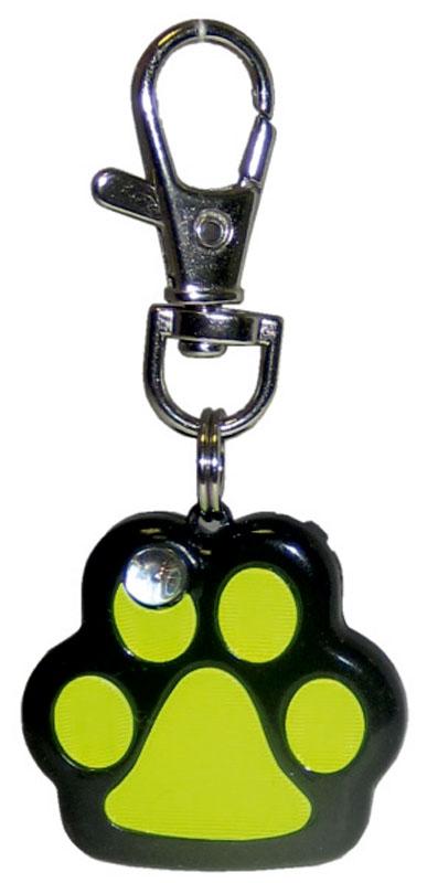 Маячок на ошейник V.I.Pet Лапка, мигающий, цвет: черный, желтый01013Маячок на ошейник V.I.Pet Лапка, изготовленный из высокопрочного металла и пластика, предназначен для выгула животных в темное время суток. Маячок оснащен светоотражателем и карабином, обеспечивающим легкое и надежное крепление к ошейнику. Световой маячок хорошо виден в темноте, обеспечивает безопасность и позволяет видеть передвижение вашего питомца. Маячок имеет 7 цветов. Маячок работает от батареек, которые входят в комплект.