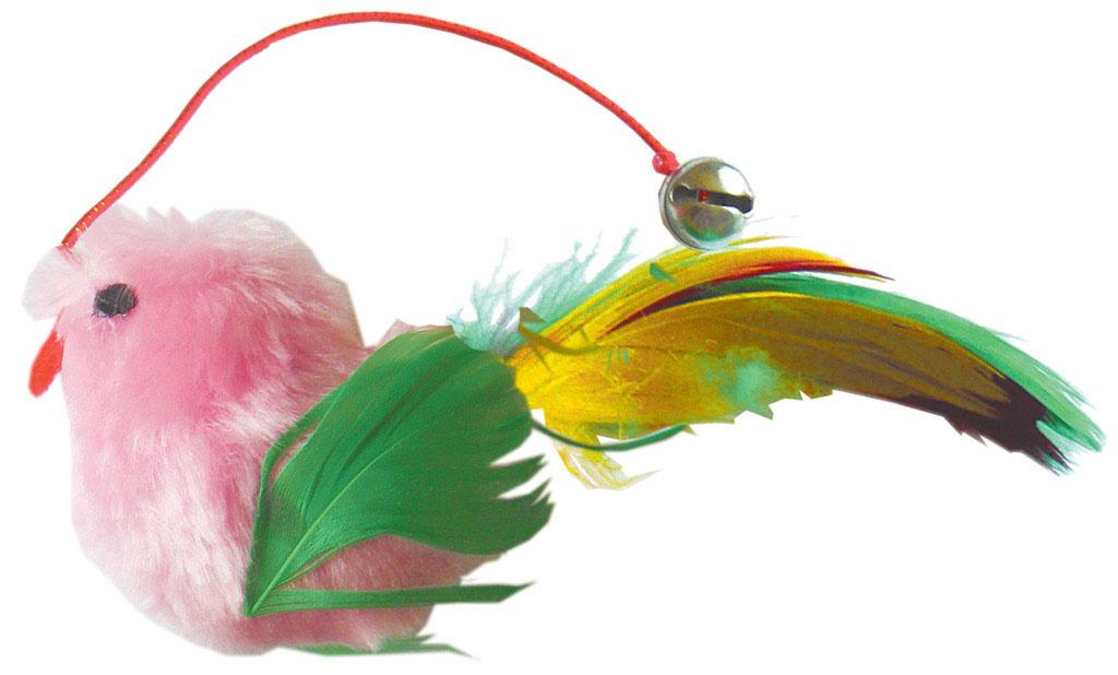 Игрушка для кошки V.I.Pet Птичка, с мятой, цвет: розовыйC-103Игрушка V.I.Pet Птичка, изготовленная из текстиля, наполнена кошачьей мятой (котовником) - растением, запах которого делает кошку более игривой. Очень агрессивные кошки становятся спокойными и уравновешенными. С помощью этой игрушки кошка легко перенесет путешествие на автомобиле, посещение ветеринарного врача или переезд животного на новую квартиру.