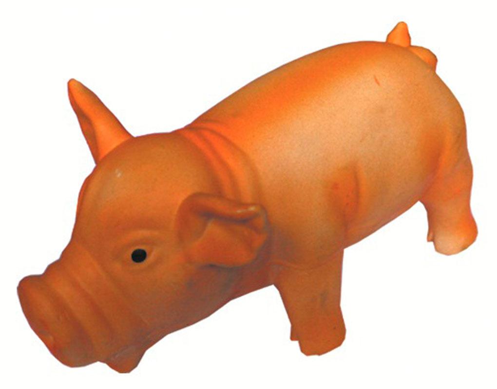 Игрушка для собак V.I.Pet Кабан Бекон, с пищалкой, цвет: оранжевый, длина 22,5 смL-117Эта игрушка позволит Вашей собаке представить себя настоящим охотником. Прочная игрушка с пищалкой изготовлена из натурального латекса с использованием только безопасных, не токсичных красителей. Великолепно подходит для игры и массажа десен вашей собаки. Игрушка не позволит скучать Вашему питомцу. Размер: 22,5 см х 9,5 х 10,8 см.