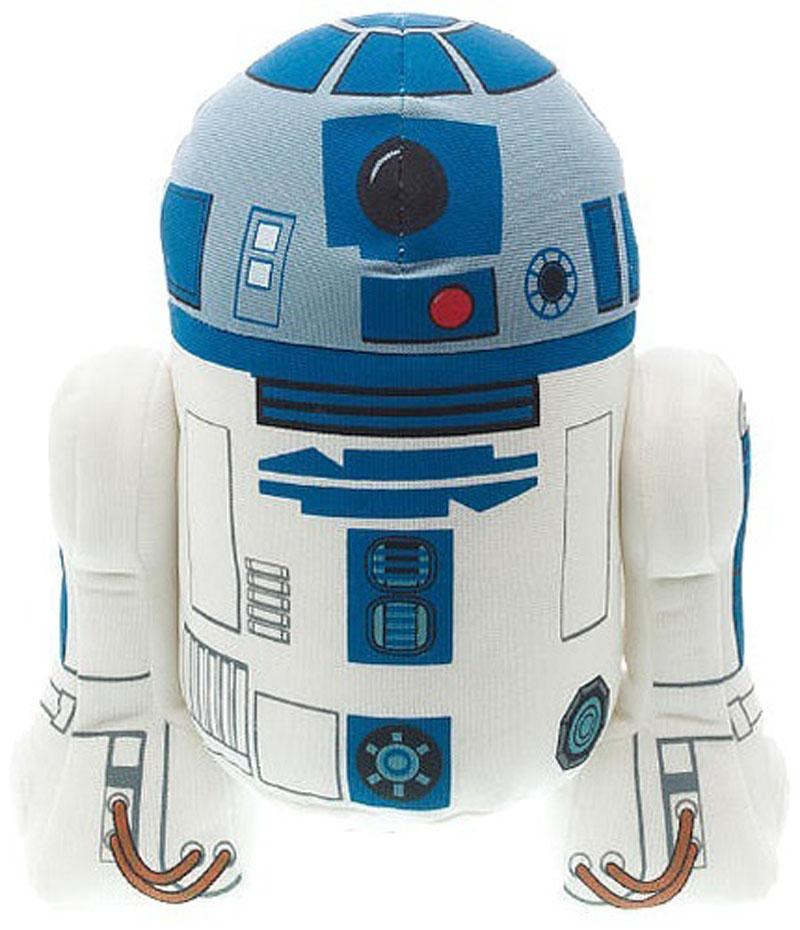 Star Wars Мягкая озвученная игрушка R2-D2 18 см00239JМягкая озвученная игрушка Star Wars R2-D2 выполнена в виде дроида - персонажа киносаги Звездные войны. При нажатии на животик R2-D2 произносит свистяще-щебечущий звук, хорошо знакомый преданным поклонникам фильма. Оригинальная мягкая игрушка непременно поднимет настроение своему обладателю и станет замечательным подарком поклоннику Звездных войн. Рекомендуется докупить 3 батарейки напряжением 1,5V типа LR44/AG13 (товар комплектуется демонстрационными).