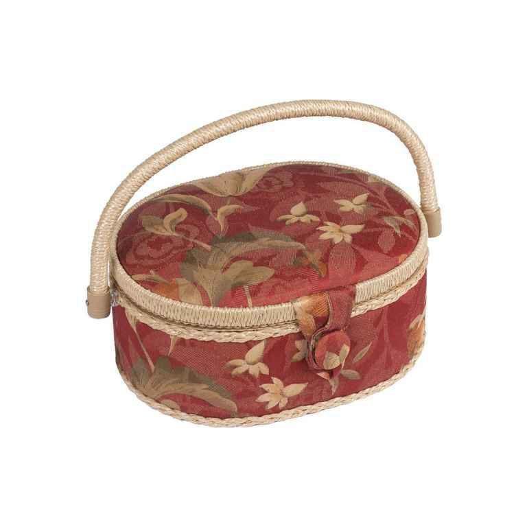 Шкатулка для рукоделия ZA-02130-22 Grace, красная с бежевыми цветамиZA-02130-22Шкатулка выполнена из ткани оригинальной расцветки. Изнутри шкатулка отделана атласным материалом, что позволяет отнести ее к классу Люкс! Шкатулка подойдет для хранения самых различных предметов в доме: от женских украшений до разных мелких предметов. В каждой шкатулке имеется съемный пластиковый лоток с отделениями.
