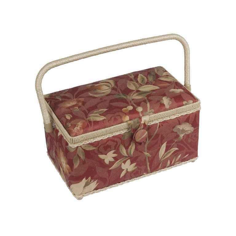 Шкатулка для рукоделия ZA-10550-22 Grace, красная с бежевыми цветамиZA-10550-22Шкатулка выполнена из ткани оригинальной расцветки. Изнутри шкатулка отделана атласным материалом, что позволяет отнести ее к классу Люкс! Шкатулка подойдет для хранения самых различных предметов в доме: от женских украшений до разных мелких предметов. В каждой шкатулке имеется съемный пластиковый лоток с отделениями.