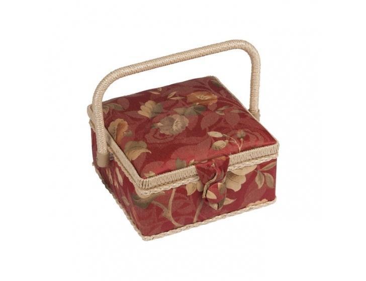 Шкатулка для рукоделия ZA-06730-22 Grace, красная с бежевыми цветамиZA-06730-22Шкатулка выполнена из ткани оригинальной расцветки. Изнутри шкатулка отделана атласным материалом, что позволяет отнести ее к классу Люкс! Шкатулка подойдет для хранения самых различных предметов в доме: от женских украшений до разных мелких предметов. В каждой шкатулке имеется съемный пластиковый лоток с отделениями.