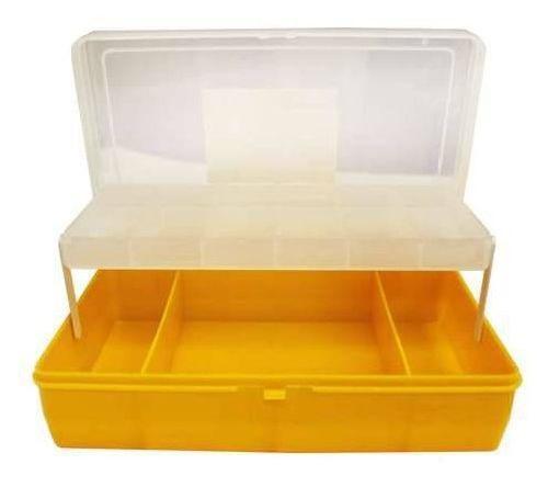 Коробка #21-3- 6, 2х ярус. бол. с микролифтом, 235х150х65 мм. тип 4(темно-желтая)525825желтаяПластиковая коробка для складывания разных мелочей, которые не должны потеряться. Высокое качество в сочетании с померной ценой - именно то что вам нужно.