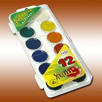 Акварель медовая ПЧЕЛКА 12 цв., пласт. упак. с петл., без кисти212040Акварельные краски выпускаются в удобной пластмассовой упаковке с прозрачной крышкой, безопасны для детей, не токсичны. Краски быстро высыхают и не портятся со временем. Краски акварельные медовые полусухие без кисточки. Краски Пчелка идеально подойдут для детского и художественного изобразительного искусства. Яркие, насыщенные цвета красок отлично смешиваются между собой. Состав: 12 цветов.