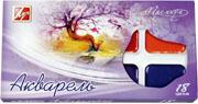 Акварель медовая ПРЕМИУМ 18 цветов, пласт.упак. в карт.короб., без кисти