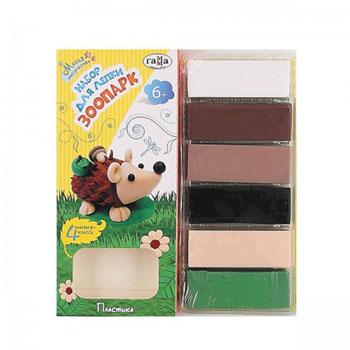 Набор для лепки Зоопарк220820141В наборе: 6 цветов по 20 грамм. Возраст: с 6 лет.
