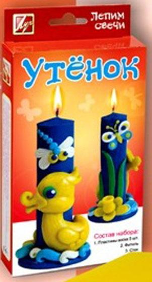 Набор лепим свечи Утенок24С 1505-08В наборе: мягкий воск 5 штук (синий: 3 штуки, желтый: 1 штука, белый: 1 штука), фитиль, стек, инструкция.