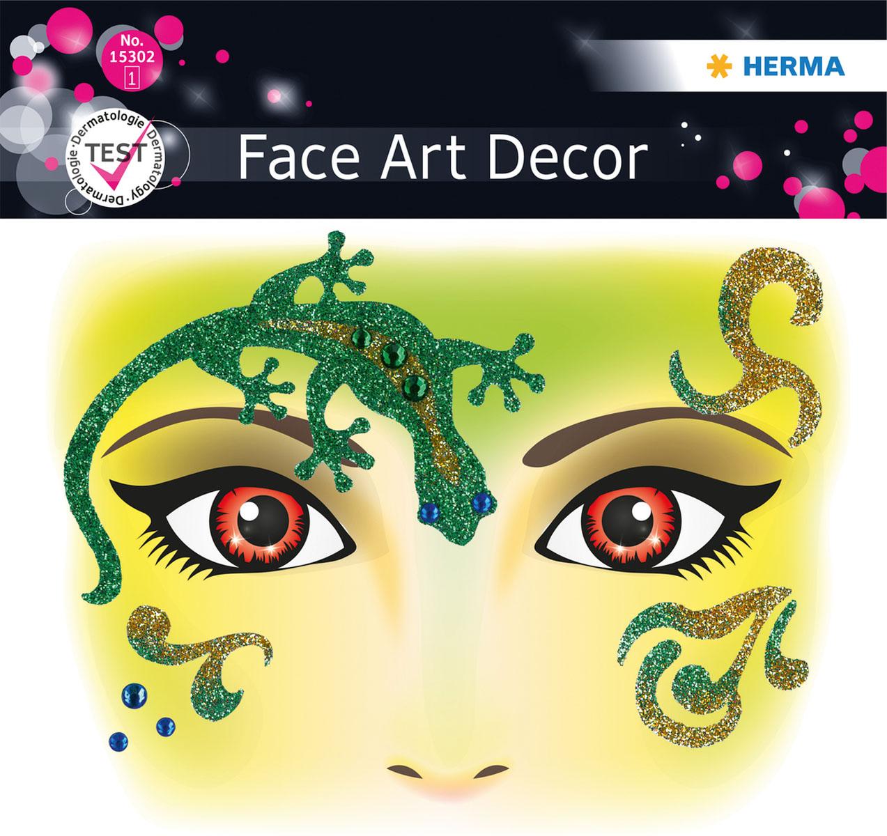 Наклейки на лицо Face Art Gecko15302