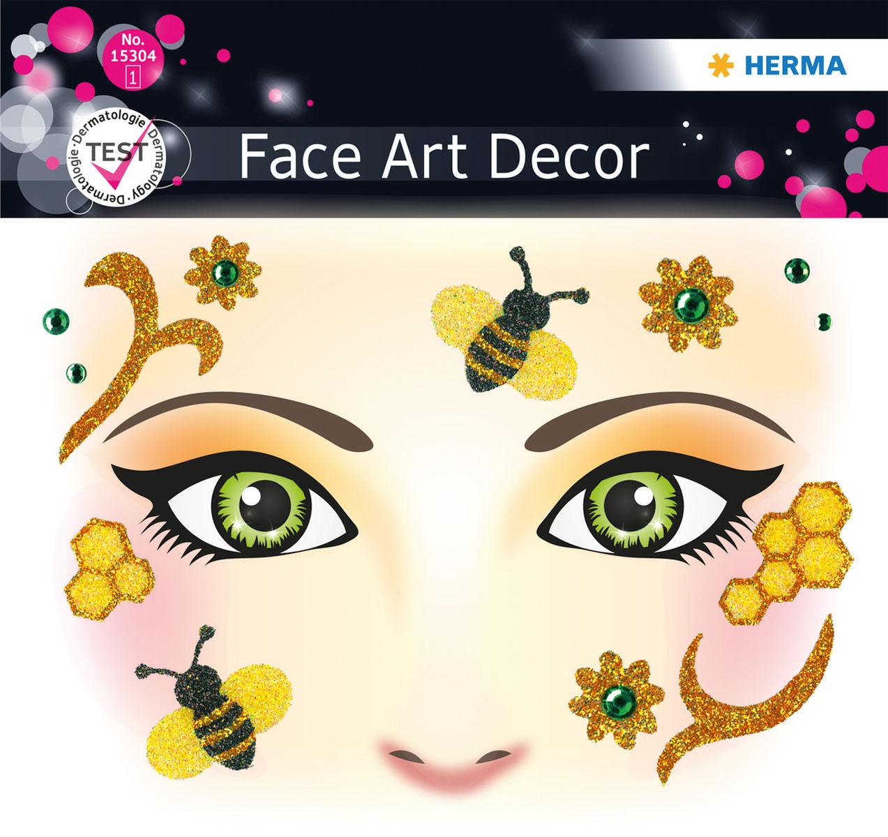 Наклейки на лицо Face Art Honey Bee15304