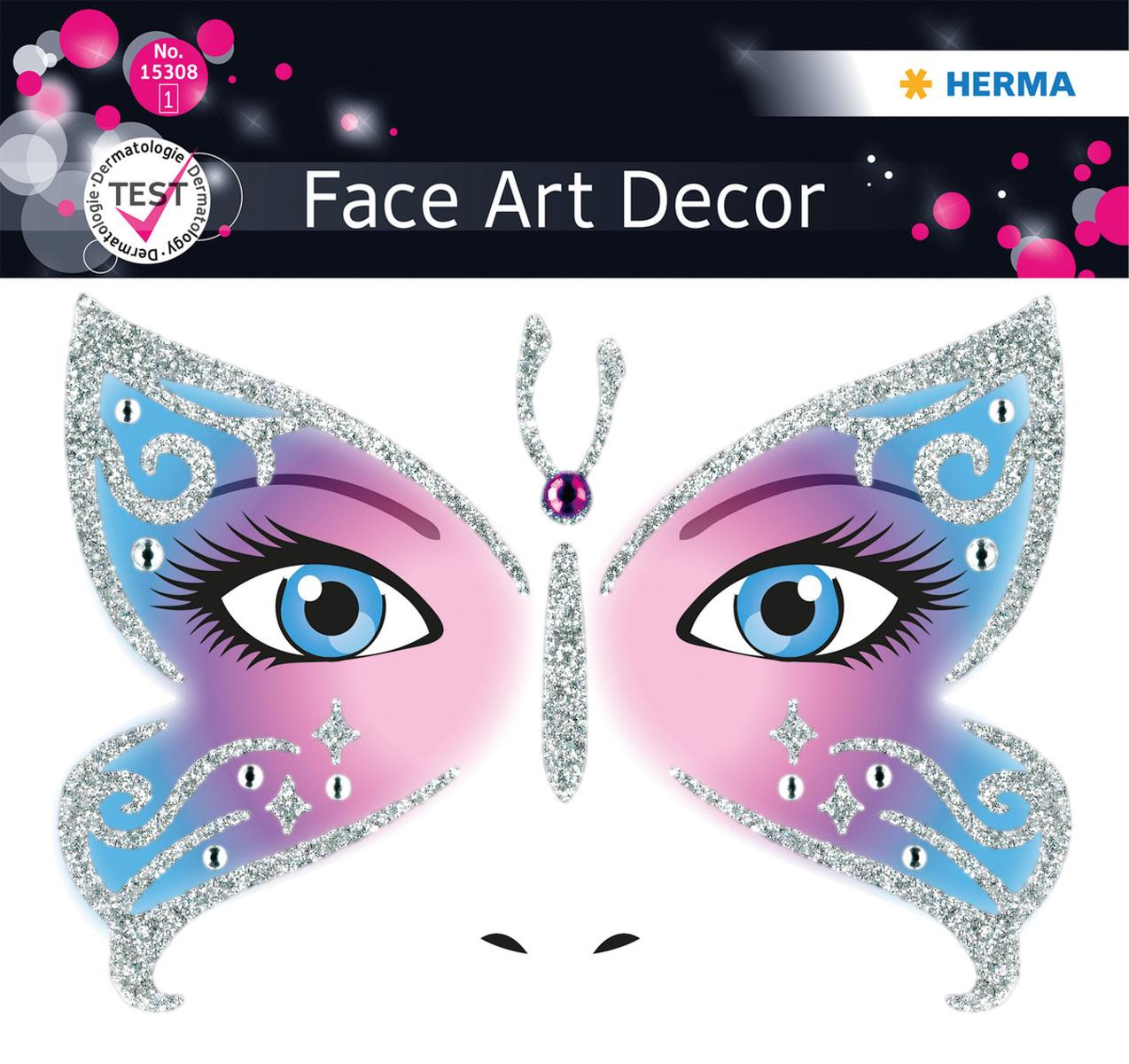 "Herma Наклейки на лицо Face Art ""Butterfly"" 15308"