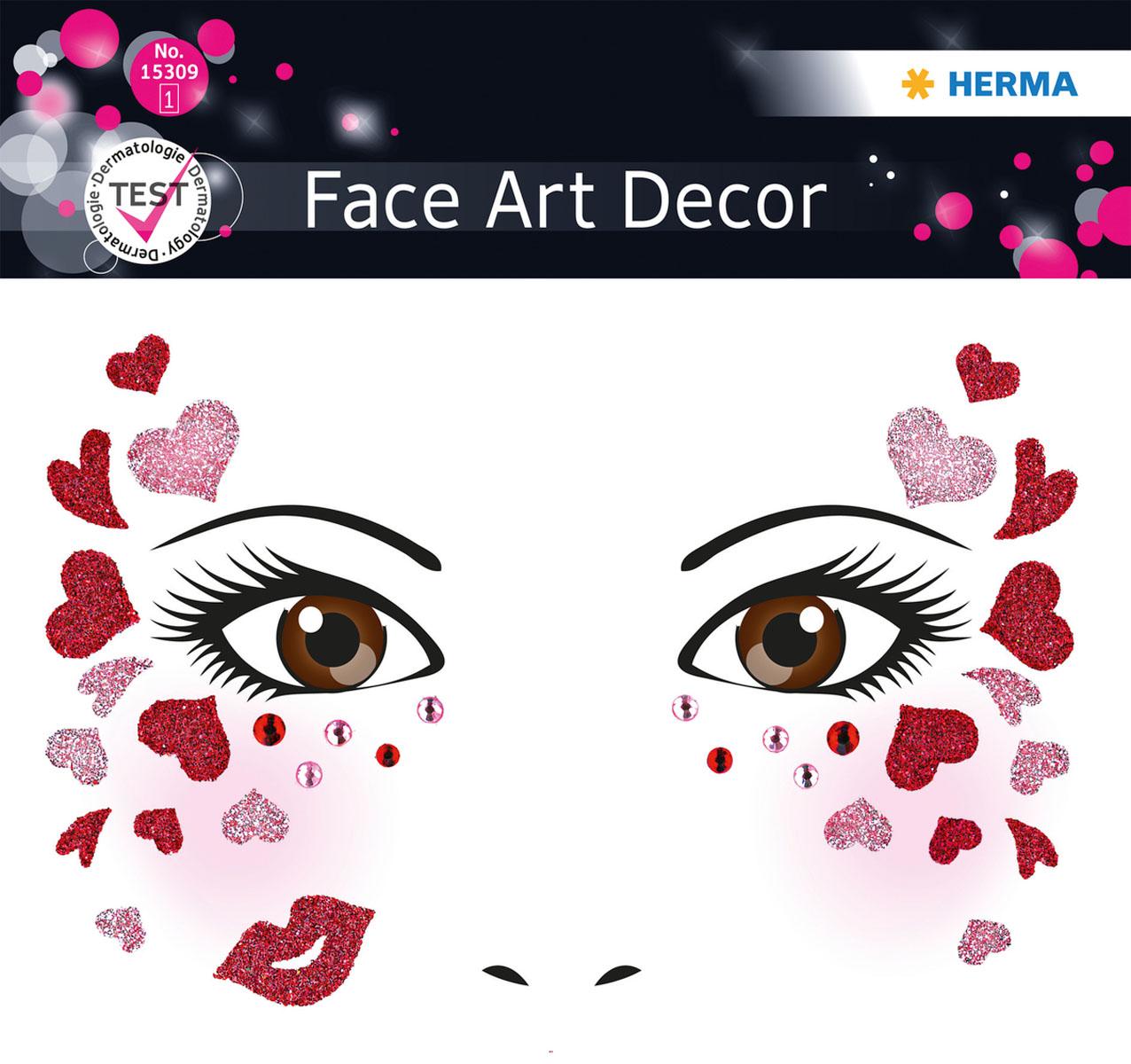 Наклейки на лицо Face Art Love15309