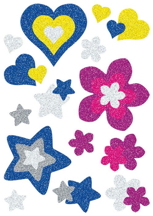 "Herma Наклейки Magic ""Сердца, цветы и звезды"""