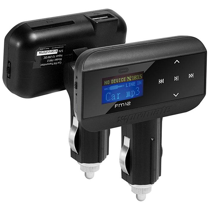 Многофункц-ный FM Трансмиттер Promate FM12