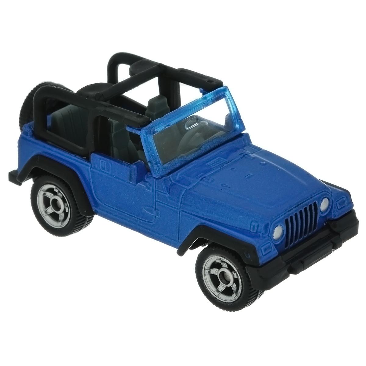 Siku Модель автомобиля Jeep Wrangler1342Коллекционная модель Siku Jeep Wrangler представляет собой точную уменьшенную копию джипа. Такая модель понравится не только ребенку, но и взрослому коллекционеру, и приятно удивит вас высочайшим качеством исполнения. Модель выполнена из металла с элементами из пластика; прорезиненные колеса крутятся. Отличный подарок для любителей автомобилей!