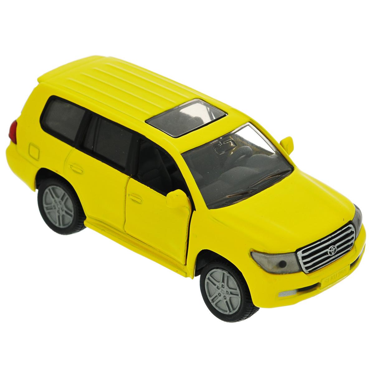 Siku Модель автомобиля Toyota Landcruiser1440Коллекционная модель Siku Toyota Landcruiser выполнена в виде точной копии одноименного автомобиля фирмы Toyota. Такая модель понравится не только ребенку, но и взрослому коллекционеру, и приятно удивит вас высочайшим качеством исполнения. Модель выполнена из металла с элементами из пластика; прорезиненные колеса крутятся. Передние двери машинки открываются. Отличный подарок для любителей автомобилей!