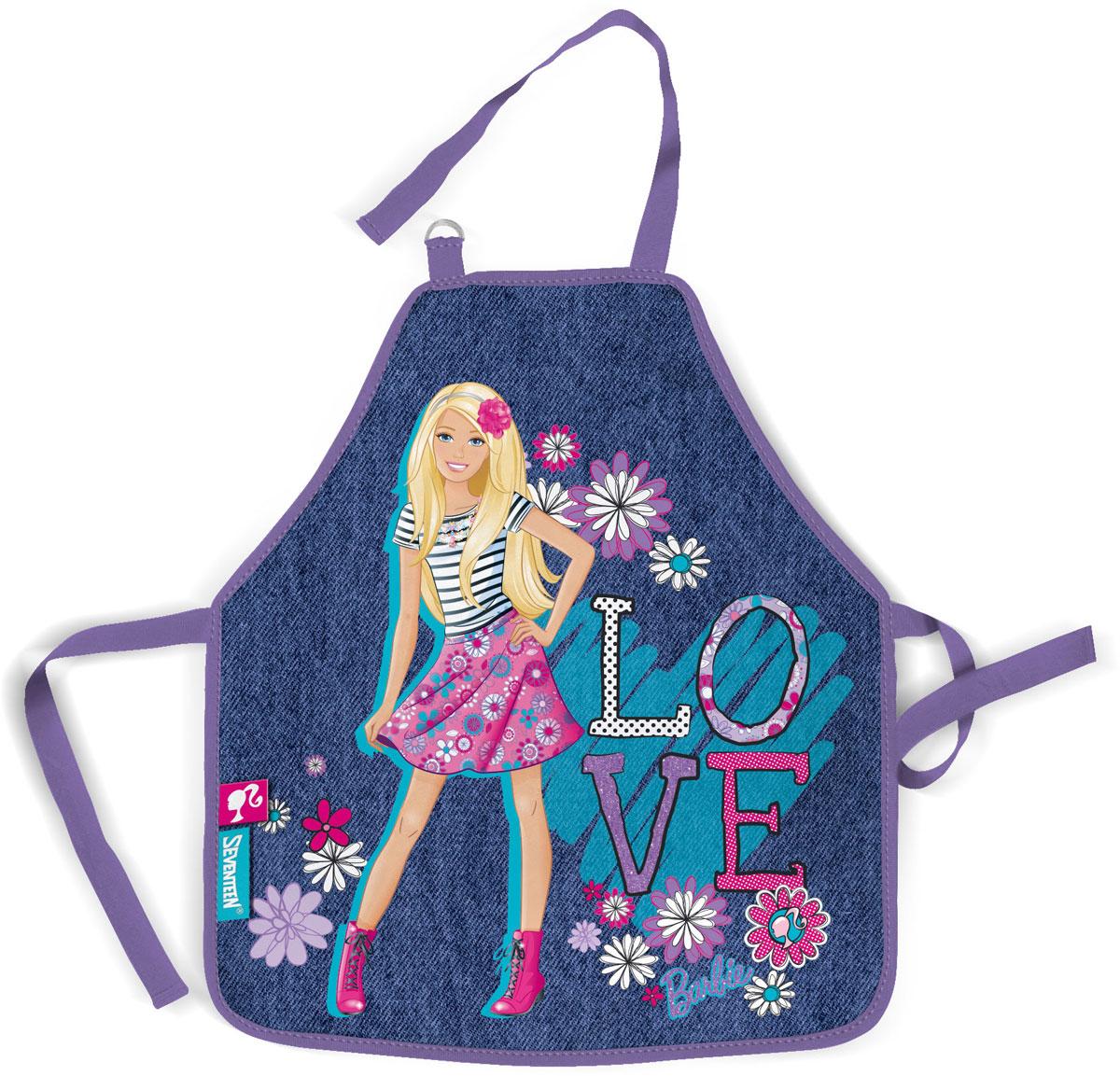 Фартук для детского творчества Barbie, цвет: синий. BRCB-RT2-029MBRCB-RT2-029MФартук для детского творчества Barbie поможет малышу не испачкаться во время домашних хлопот, на уроках труда или изобразительного искусства. Благодаря удобному покрою фартука, ребенок может его самостоятельно надевать и снимать. Его можно зафиксировать на талии и на шее с помощью специальных ремней. Ремень, предназначенный для фиксации на шее, имеет металлические приспособления для регулировки длины. Фартук изготовлен из водонепроницаемого материала, легко стирается.