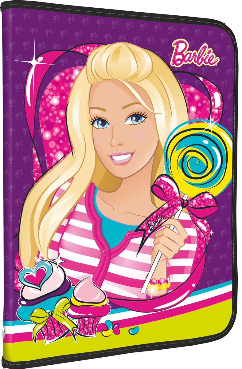 Папка для труда Barbie. Формат А4BRCB-US1-PTRA4Папка для труда Barbie предназначена для хранения тетрадей, рисунков и прочих бумаг формата А4, а также ручек, карандашей, ластиков и точилок. Внутри находится одно большое отделение с дополнительным вкладышем, содержащим фиксаторы для школьных принадлежностей и фиксатор для тетрадей. Папка выполнена из прочного полипропилена и оформлена ярким изображением куклы Барби. Надежная круговая застежка-молния обеспечивает максимальный комфорт в использовании изделия, позволяя быстро открыть и закрыть папку.