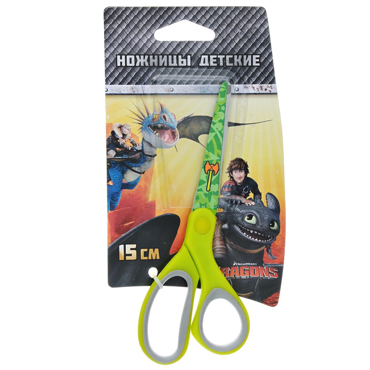Ножницы детские Action Dragons, цвет: салатовый, 15 смC37329/DR-ASC265_салатовыйДетские ножницы Action Dragons с безопасными закругленными лезвиями изготовлены из высококачественной нержавеющей стали. Лезвия с наружной стороны оформлены декоративным рисунком. Облегченные ручки ножниц адаптированы для детской руки. Вашему ребенку будет настоящим удовольствием делать с ножницами Action Dragons различные аппликации из бумаги или других материалов.