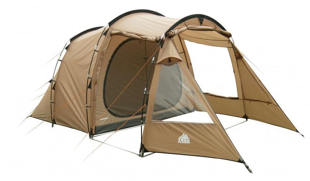 Палатка пятиместная TREK PLANET Michigan 5, цвет: песочный70243Пятиместная двухслойная современная кемпинговая палатка TREK PLANET Michigan 5 с вместительным светлым тамбуром и обзорными окнами. Благодаря трем большим обзорным окнам со шторками, достигается отличный обзор из палатки!