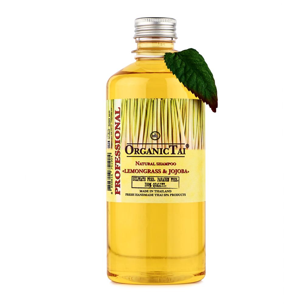 OrganicTai Натуральный шампунь для волос «ЛЕМОНГРАСС И ЖОЖОБА» 500 мл