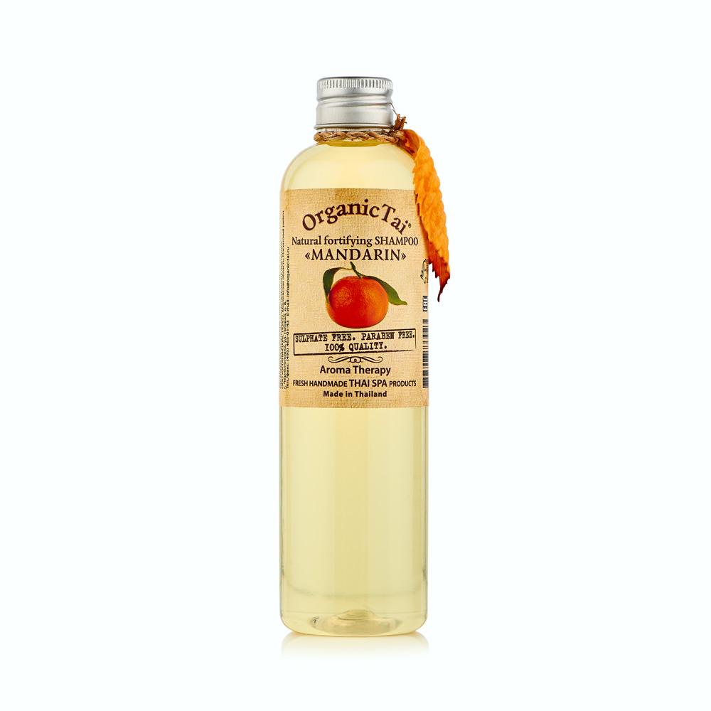 OrganicTai Натуральный укрепляющий шампунь для волос МАНДАРИН260 мл