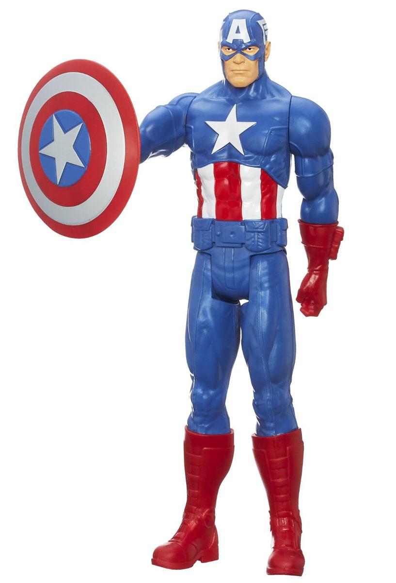 Фигурка Титаны: Мстители CAPTAIN AMERICA, 29 смB6660EU4_6154Фигурка Титаны: Мстители станет прекрасным подарком для вашего ребенка. Она выполнена из прочного пластика ярких цветов в виде знаменитого участника Команды Мстителей - Капитана Америка. У фигурки пять точек артикуляции: ее голова, руки и ноги подвижны, что позволит придавать ей различные позы. Большая фигурка даст вашему ребенку возможность разыгрывать по-настоящему масштабные сражения с участием любимого героя. Порадуйте его таким замечательным подарком!