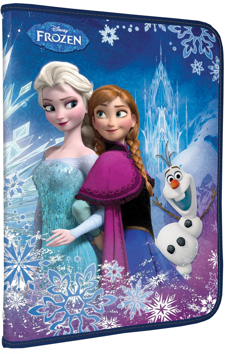 Папка для труда Disney Frozen, цвет: синий. Формат А4FZCB-US1-PTRA4Папка для труда Disney Frozen предназначена для хранения тетрадей, рисунков и прочих бумаг формата А4, а также ручек, карандашей, ластиков и точилок. Внутри находится одно большое отделение с дополнительным вкладышем, содержащим фиксаторы для школьных принадлежностей и фиксатор для тетрадей. Папка выполнена из прочного полипропилена и оформлена ярким изображением героев одноименного мультфильма. Надежная круговая застежка-молния обеспечивает максимальный комфорт в использовании изделия, позволяя быстро открыть и закрыть папку.