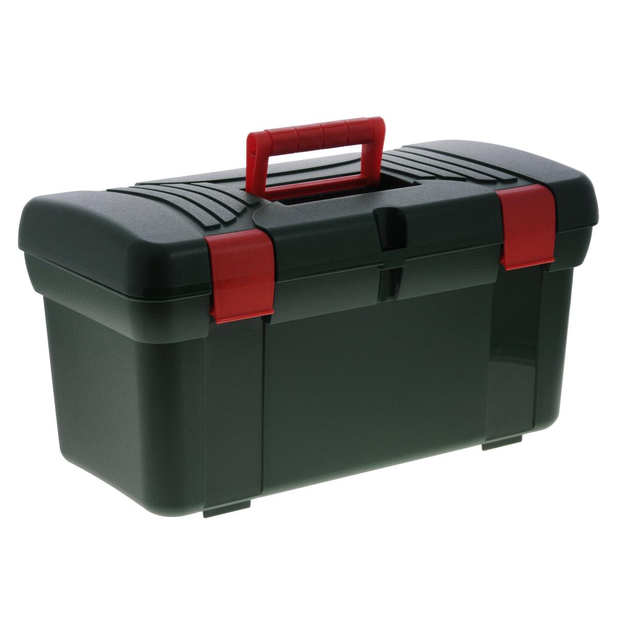 Ящик Универсал, 50 х 26 х 27 смС12281Ящик Универсал выполнен из прочного пластика и предназначен для хранения инструментов и других бытовых мелочей. Изделие оснащено ручкой для удобной переноски. В комплект входит съемный лоток с ручкой. Крышка плотно закрывается на две защелки. Ящик Универсал будет незаменим в хозяйстве. Размер ящика: 50 см х 26 см х 27 см. Размер лотка: 48,5 см х 23 см х 7 см.